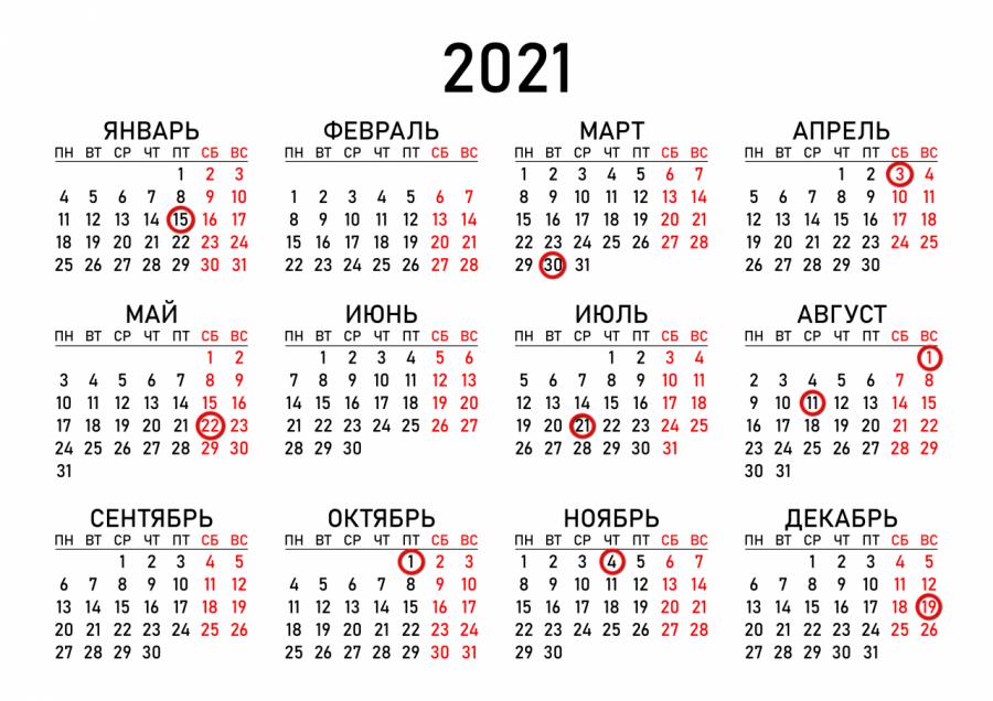 """""""""""Престольные праздники в 2021 году"""